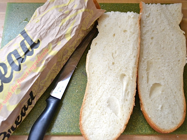 cut French bread