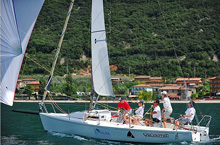 J/80 sailing in Italy