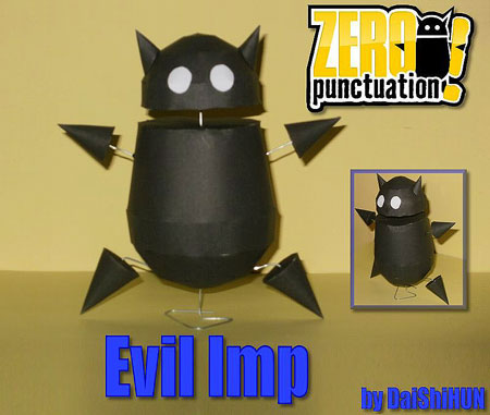 Zero Punctuation Evil Imp Papercraft