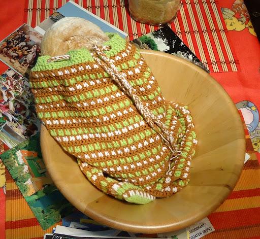 Плетена торбичка за хляб