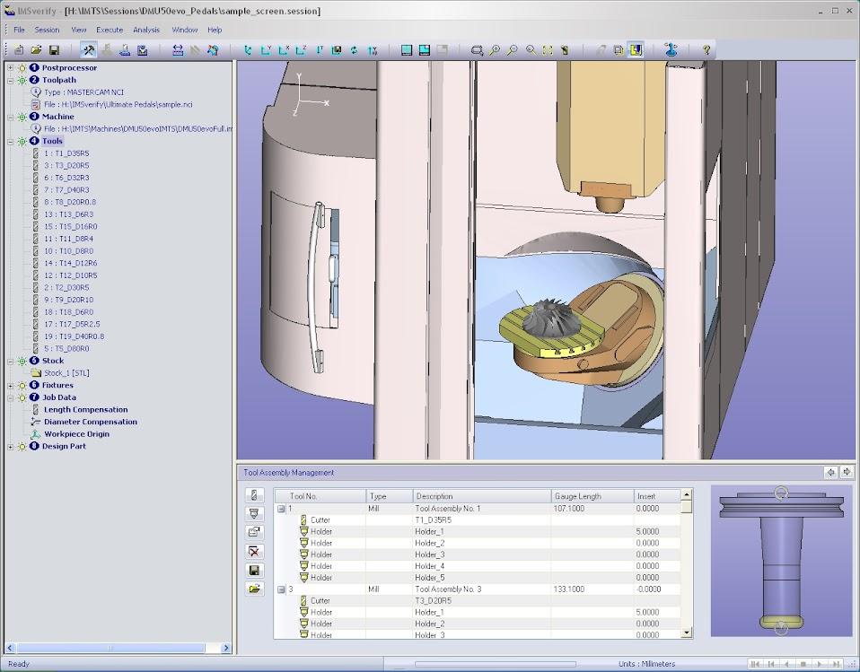 IMSverify™ обеспечивает симуляцию станка с обнаружением столкновений для всех типов станков: токарных, фрезерных, токарно-фрезерных
