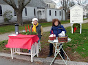 They braved the cold to keep people warm with cider