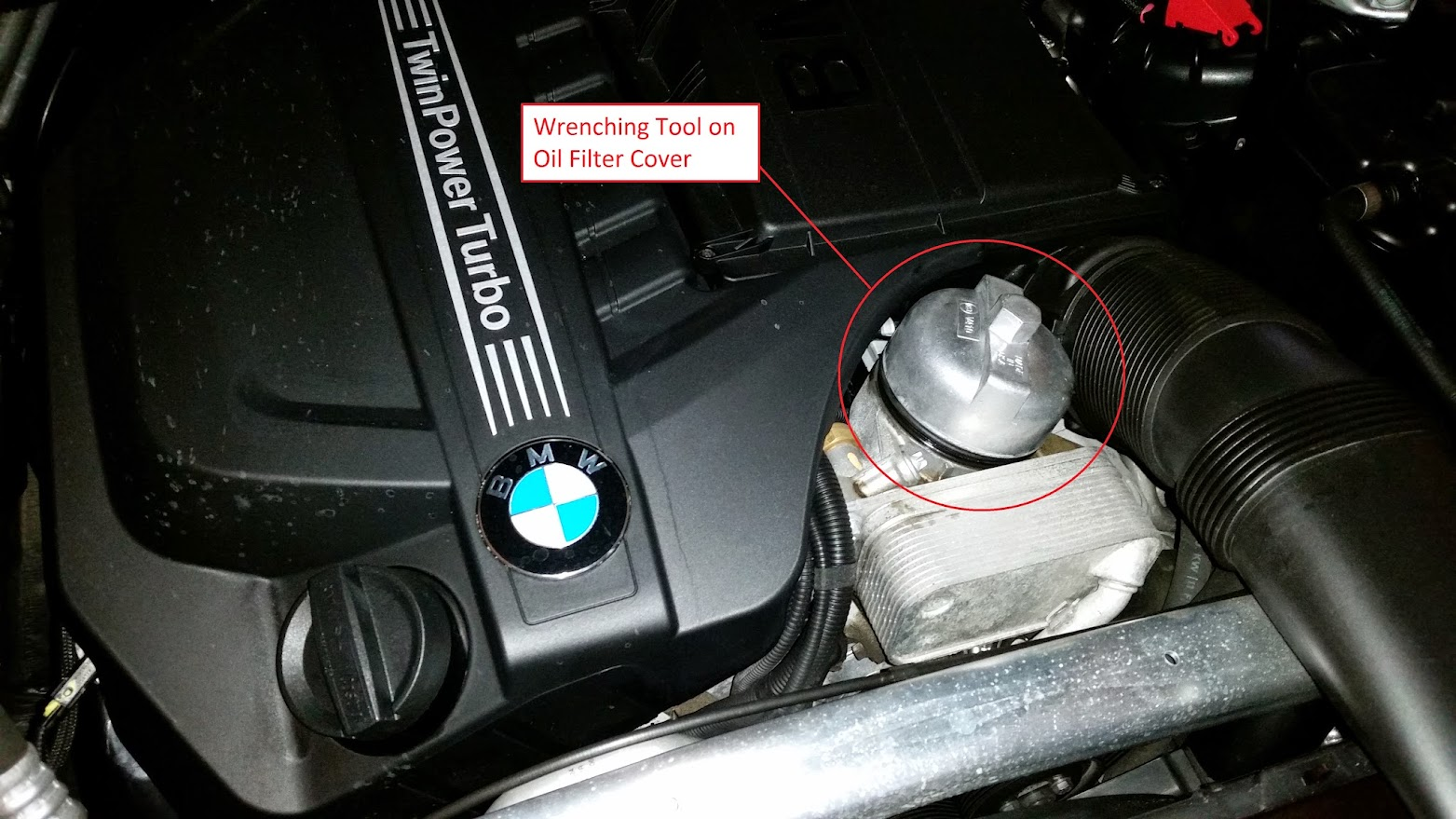 Remove the oil drain plug using a 17mm socket there should be a little cover that you have to remove to expose the drain plug but of course