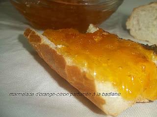 Marmelade d'orange et de citron parfumée à la badiane - recette indexée dans les Divers