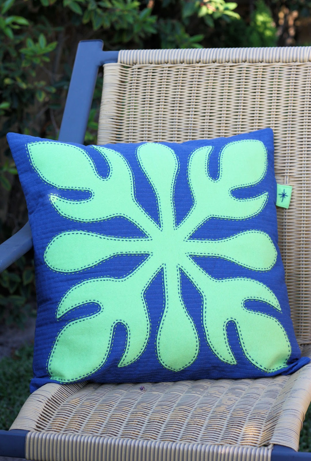 Hawaiian Leaf Pillow - A Spoonful of Sugar
