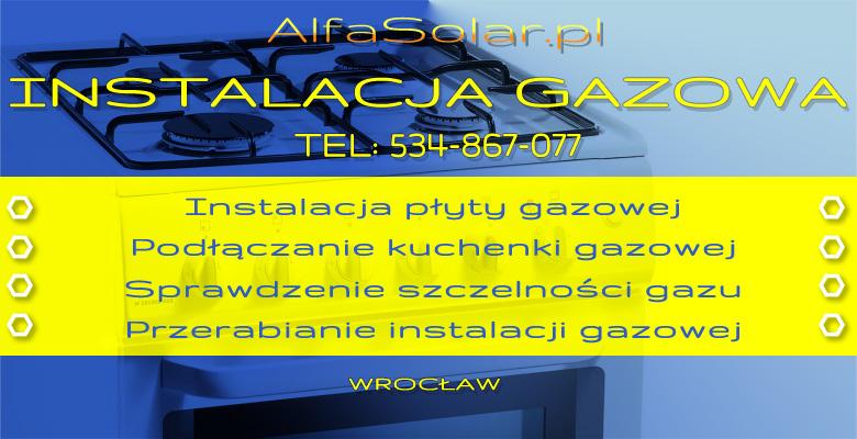Ogromny Gazownik Hydraulik Wrocław: Podłaczanie kuchenki gazowej Wrocław OA18