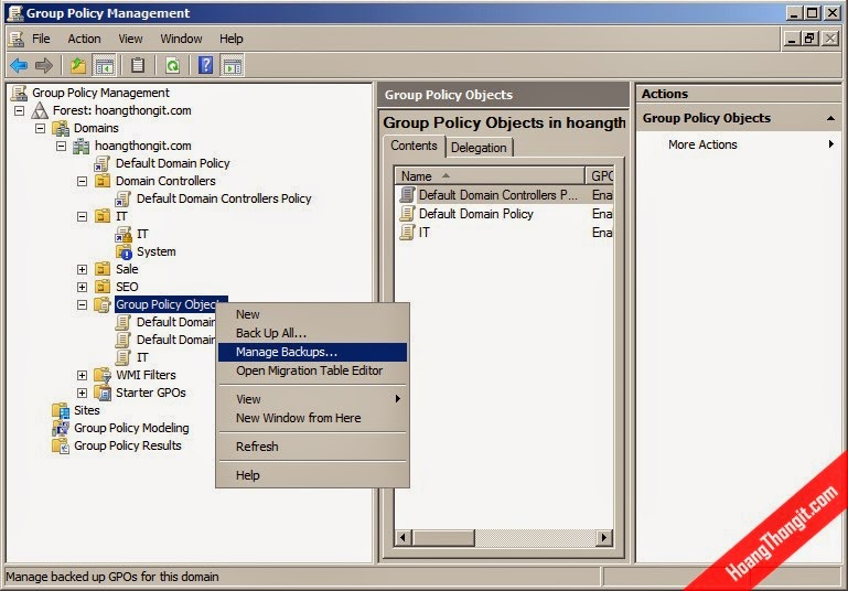 Tạo và quản trị Group Policy Object - GPO