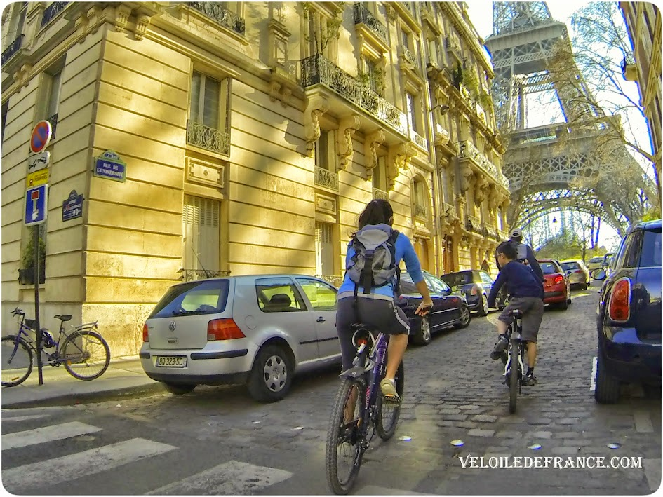Cycling guide in Paris from Notre-Dame to the Eiffel Tower : a postcard from Paris