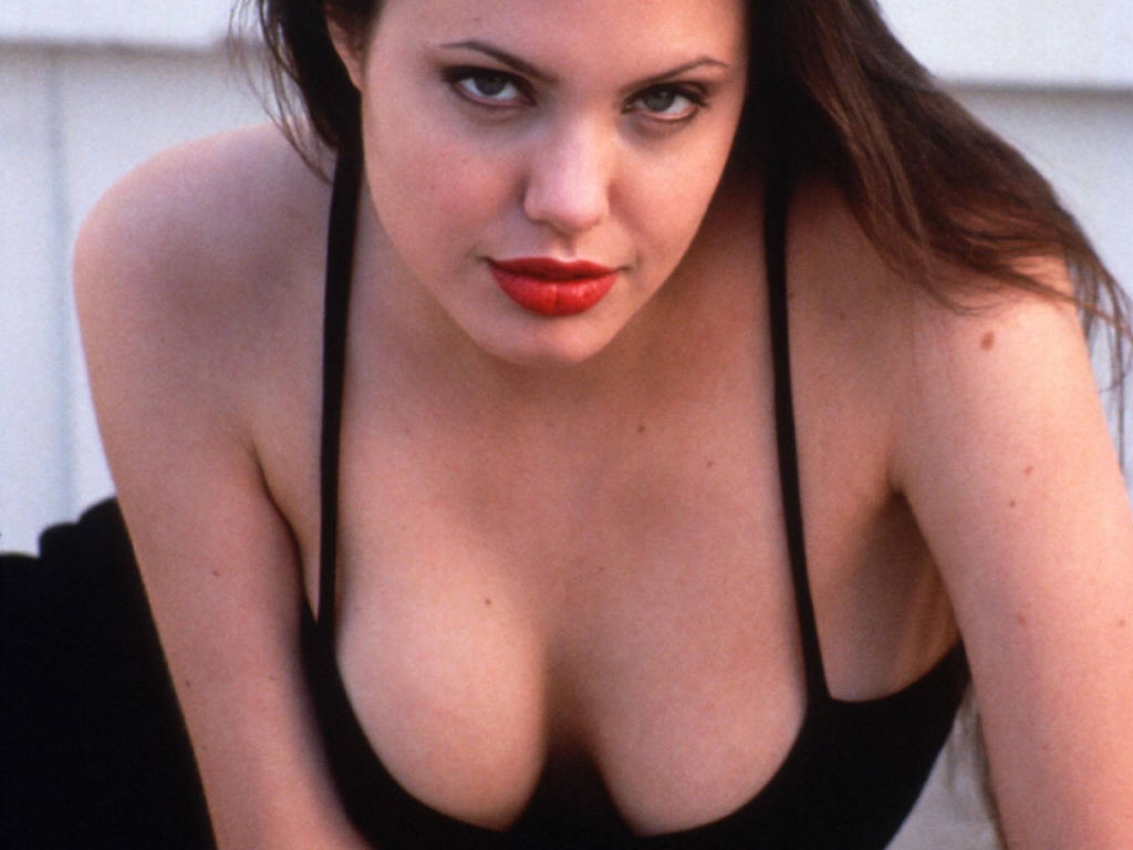 angelina jolie boobs