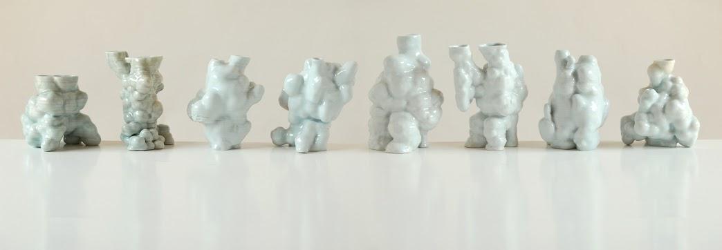Jonathan Keep - Random Growth Series, 3D printed ceramics