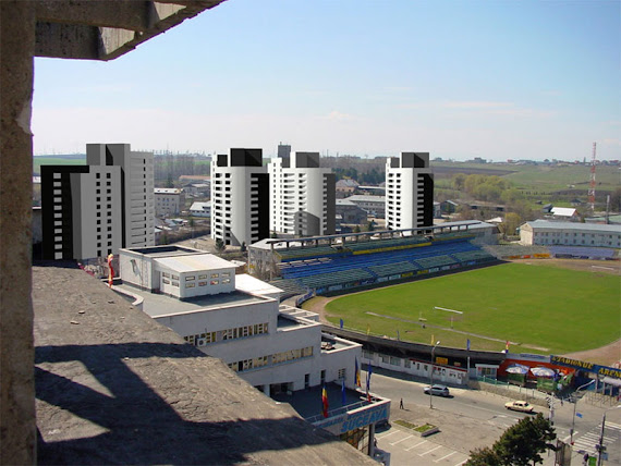 Cartierul Adama în spatale stadionului Areni din municipiul Suceava