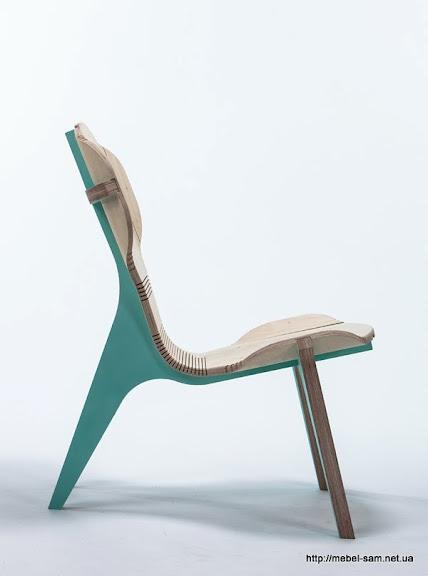 Фанерное кресло KerFchair, вид сбоку