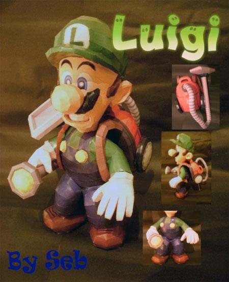 Vacuum Luigi Papercraft