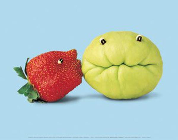 Food Art - Strawberry Kiss