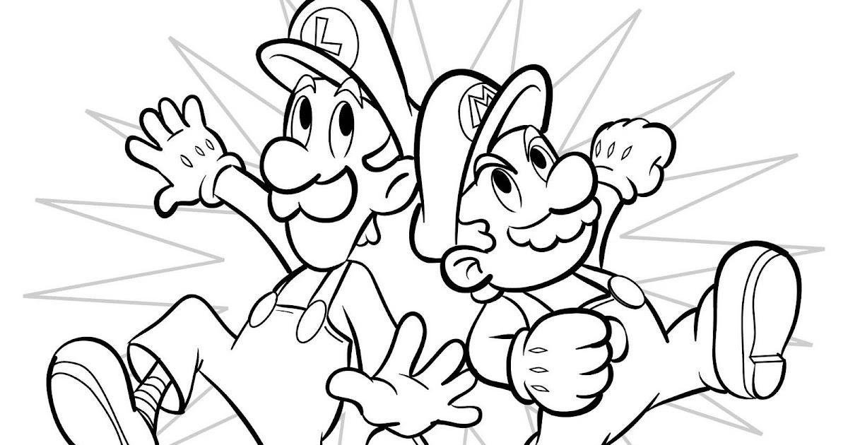 Pinto Dibujos Mario Bros Y Luigi Para Colorear