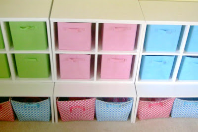 storage cubbies with lower bench area