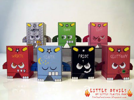 Little Devils Seven Deadly Sins Paper Toy