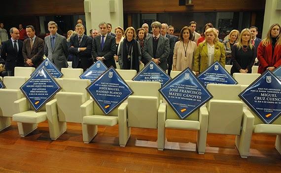 Cada víctima del terrorismo en Madrid será recordada con una placa