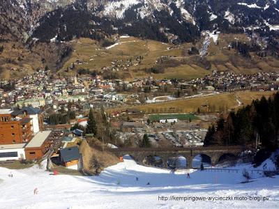 Bad Hofgastein widok z trasy narciarskiej H2a