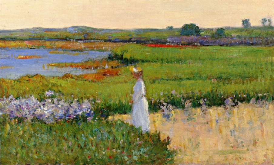 Theodore Wendel – Woman by the Sea, Cape Ann, Massachusetts