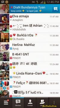 Tampilan Aplikasi BBM For Android Menggunakan ID Lama