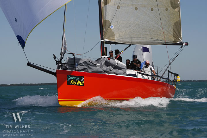 J/111 Fireball sailing off Key West