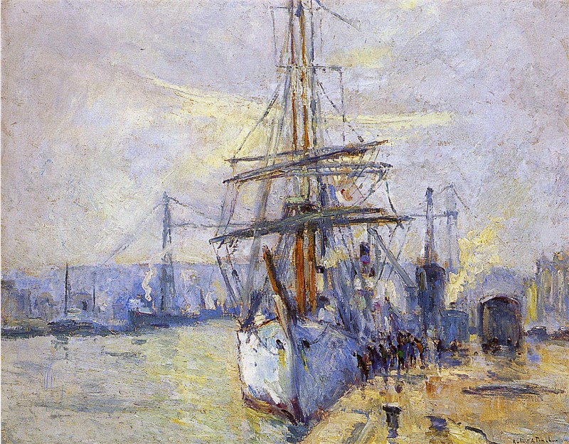Robert Antoine Pinchon - The Why Not in the Harbor of Rouen