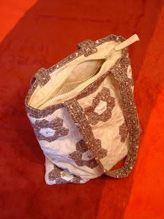 Nagymama virágoskertje patchwork táska, Grandma's garden patchwork bag