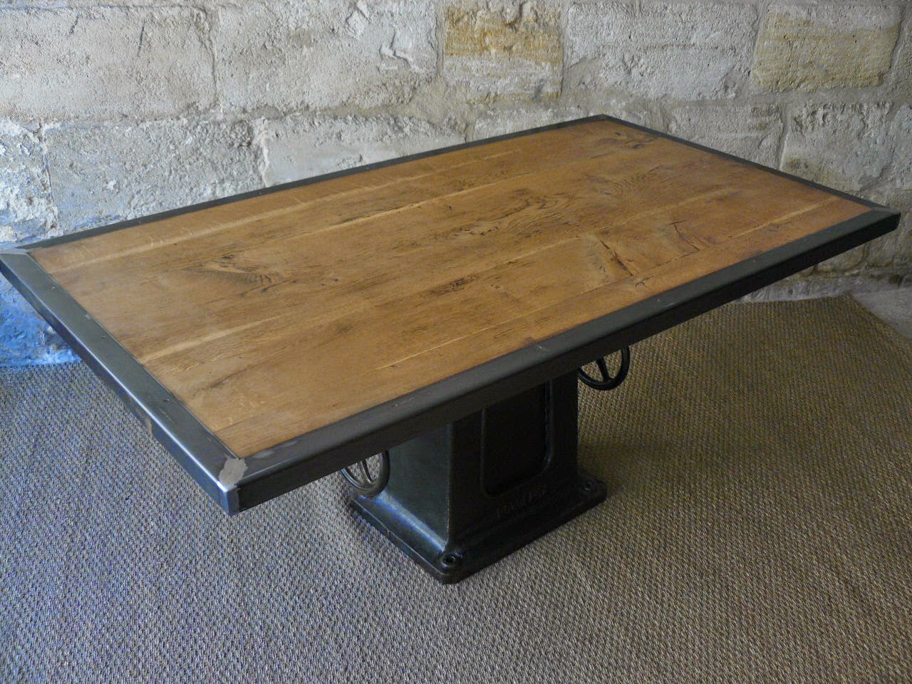 Table industrielle salle manger mai - Table a manger industrielle ...