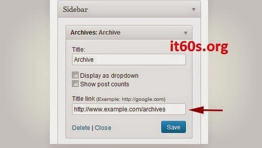 chèn thêm liên kết cho tiêu đề Widget trong WordPress