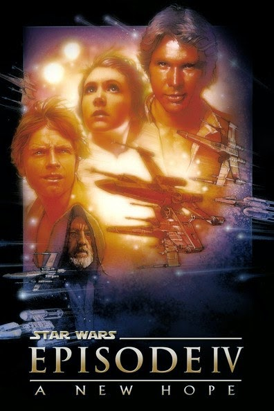 Poster Of Star Wars: Episode IV - A New Hope (1977) Full Movie Hindi Dubbed Free Download Watch Online At Alldownloads4u.Com