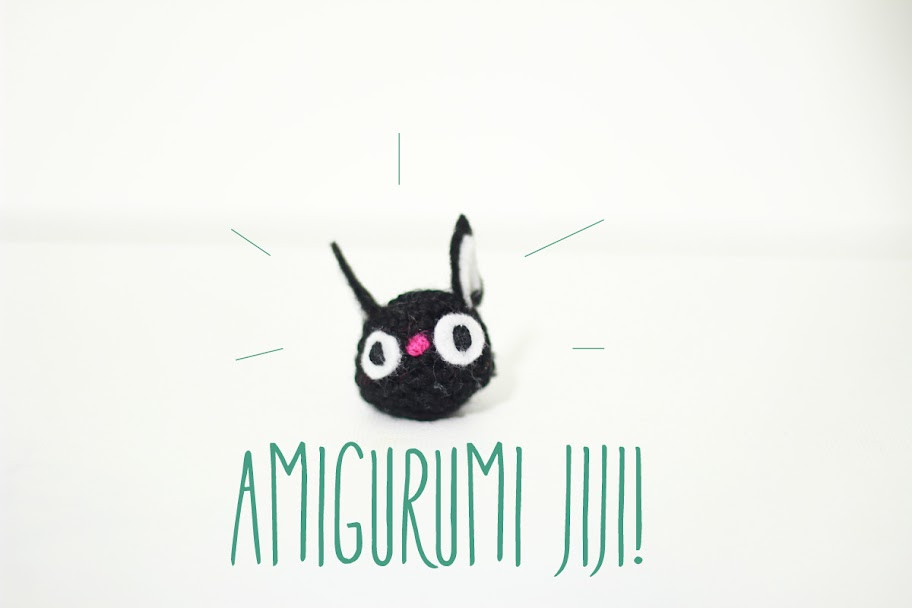 Free amigurumi cat pattern. Jiji from the Studio Ghibli movie: Kiki's Delivery Service.
