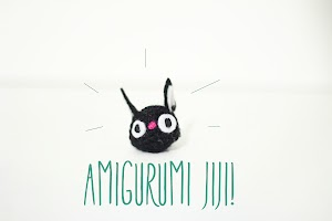 Amigurumi Jiji the cat from Kiki's Delivery Service. A studio Ghibli animation.