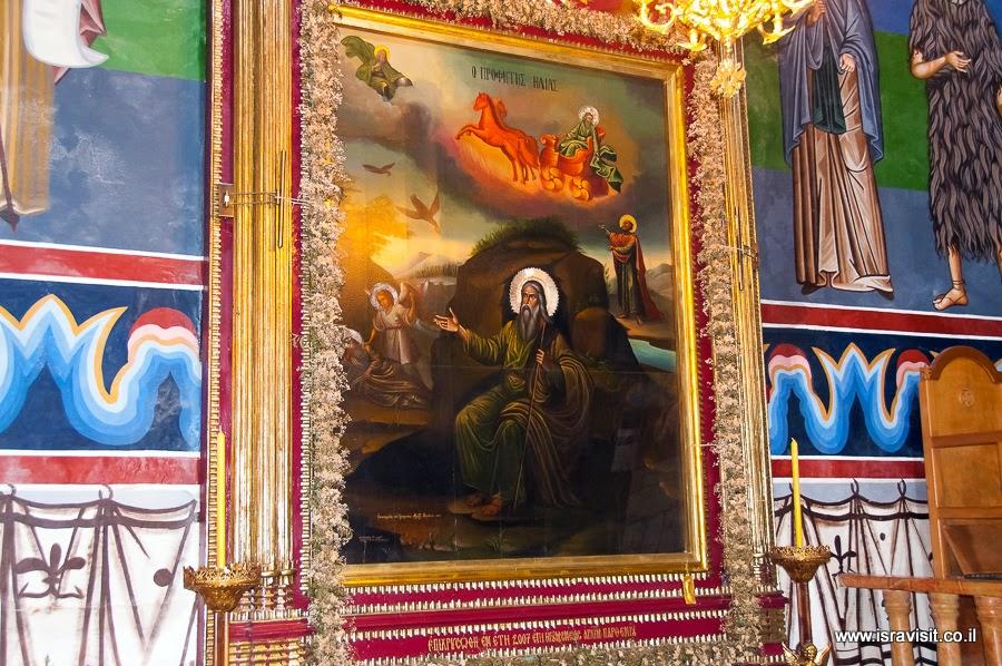 Илья Пророк. Росписи в православном монастыре Ильи Пророка в