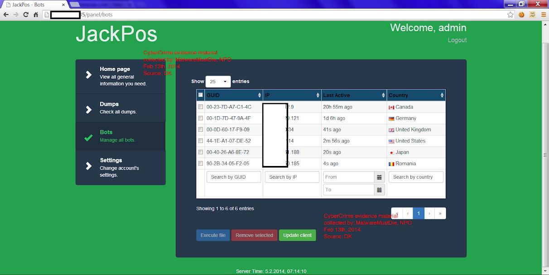 MMD-0016-2014 - The JackPOS Behind the Screen · MalwareMustDie!