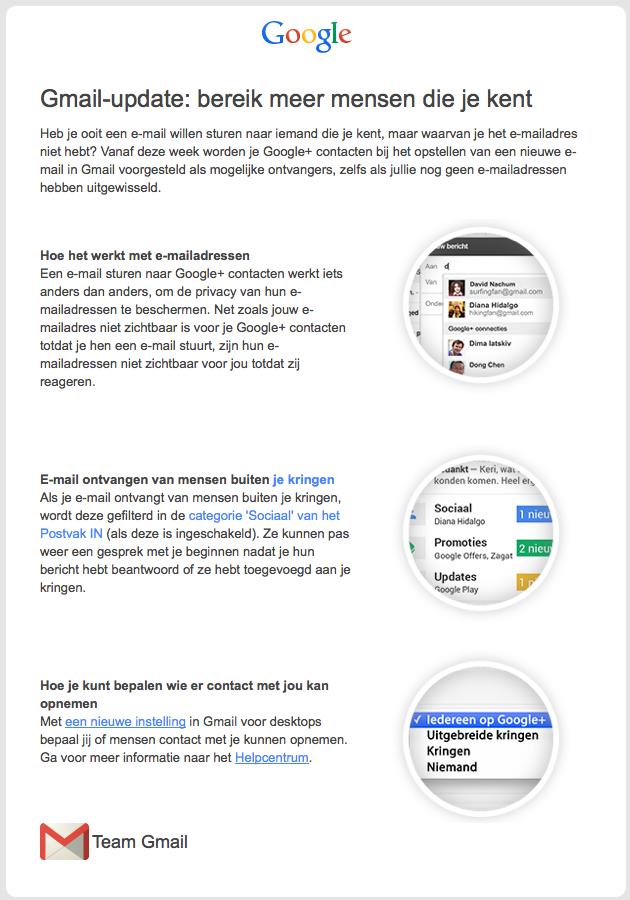 Gmail update: bereik meer mensen die je kent