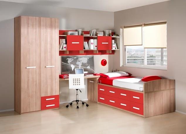 17 dormitorios juveniles en color rojo ideas decoraci n ig - Alfombras para dormitorios juveniles ...