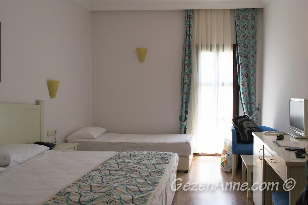 Bodrum Park Resort'te kaldığımız otel odası