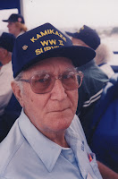 Former USS Bennion crew member Robert Lee Pitts at the ships reunion in San Diego, California.