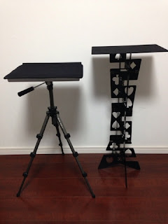 Folding Table - Metal - Black and tripod table