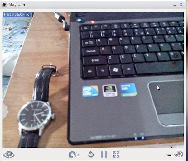 Giao diện màn hình chụp ảnh bằng Camera của thiết bị
