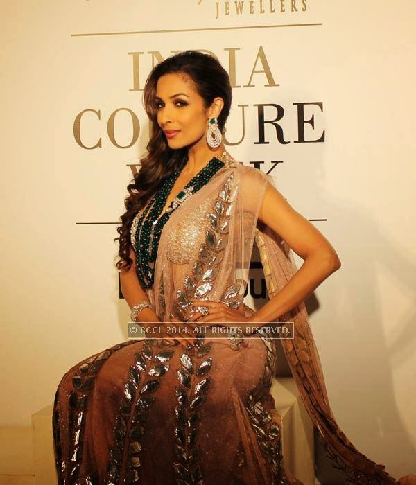 Malaika Arora Khan poses during the India Couture Week, 2014, held at Taj Palace, in New Delhi.