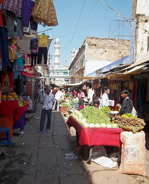 inside vegetable market