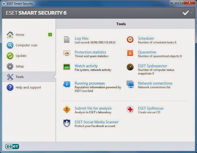 Screenshot of ESET Smart Security v.6.0.314.0 Incl. Crack Antivirus PC Software Free Download at Alldownloads4u.Com