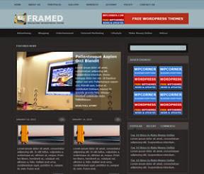 Red Framed Magazine Theme