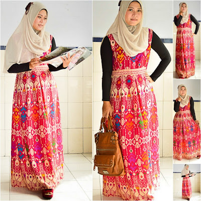 Dress Etnik Motif Tradisional Bali