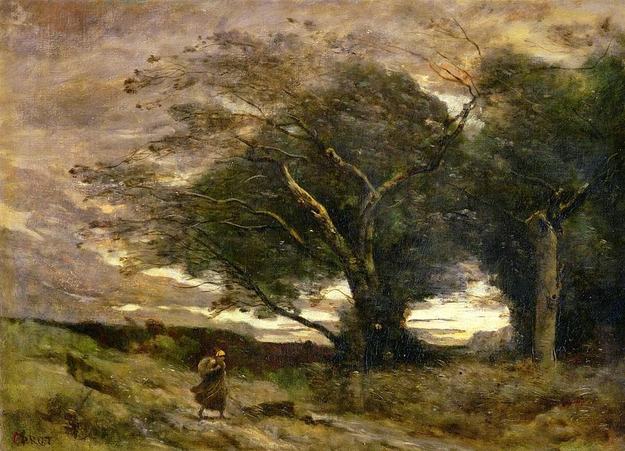 Jean Baptiste Camille Corot - Gust of Wind
