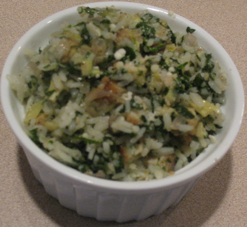 Chicken Spinach and Artichoke Rice
