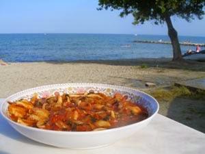 Σουπιές με Σάλτσα Ντομάτας,Cuttlefish with tomato sauce.