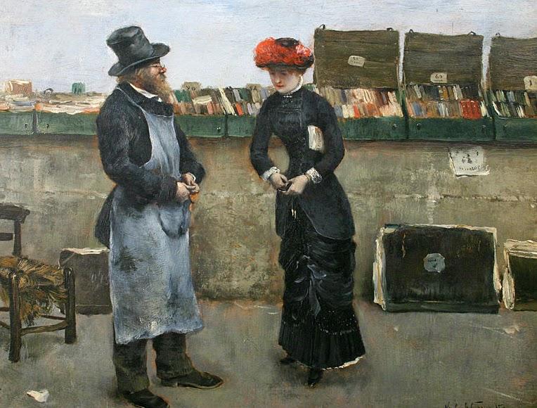 Norbert Goeneutte - Parisian bookseller
